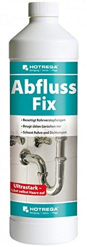 HOTREGA Abfluss Fix 1 l - Wirkungsvollen & schnellen Beseitigung hartnäckigster Rohrverstopfungen