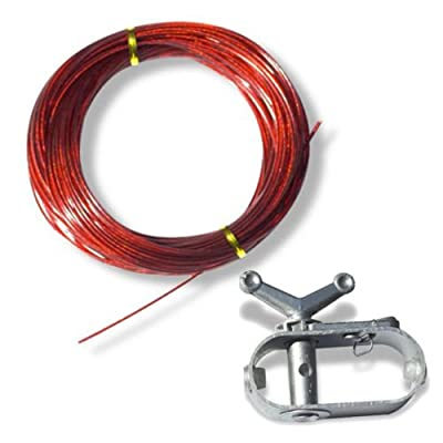 Maximumstore 100' Cable and Winch/Ratchet for Above Ground Swimming Pool Winter Covers