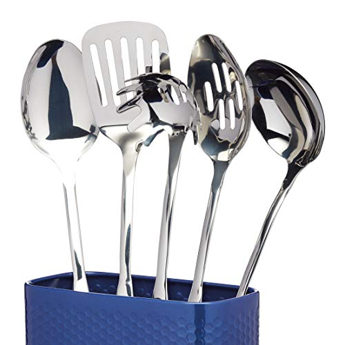 KitchenCraft Lovello Textured Utensil Holder - Midnight Navy