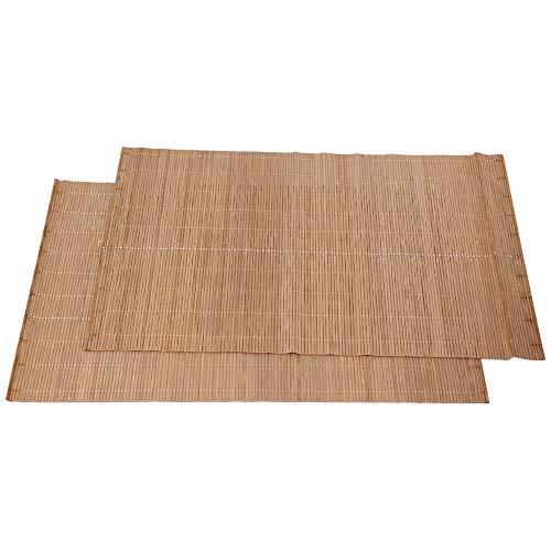 bqlzr de sets de table en bambou naturel Coaster Isolation thermique Pad Tapis de table rectangle Lot de 2