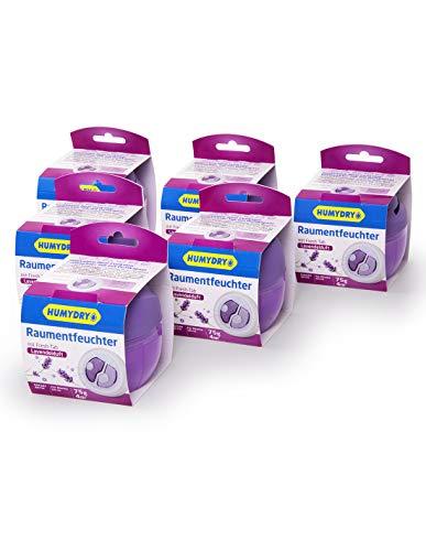6er-Set HUMYDRY® Duplo 75g Luftentfeuchter Lavendel