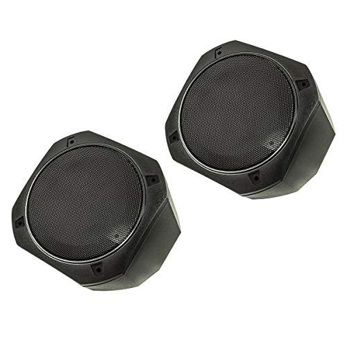tomzz Audio 2800-022 Aufbau Lautsprecher Gehäuse für 130x130 mm DIN Lautsprecher, Retro, KFZ, Boot, LKW, Baumaschinen