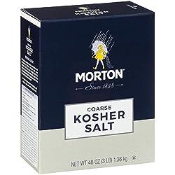 Morton Kosher Salt, Coarse, 48 Ounce (Packaging May Vary)