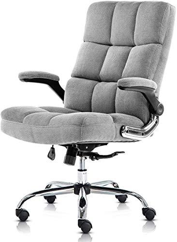 Kerms Adjustable Velvet Office Chair