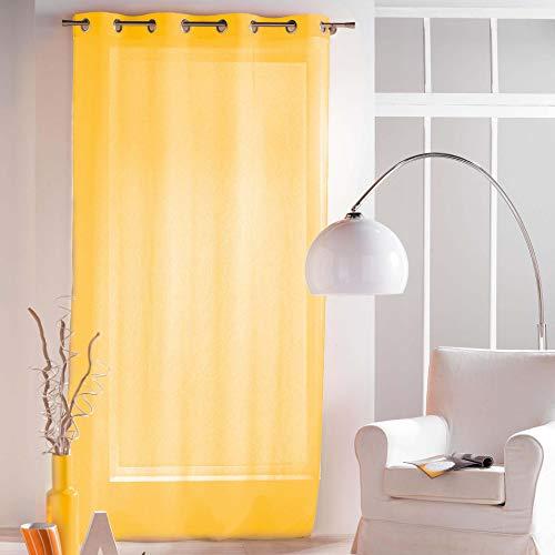 Visillo amarillo con Anillas, 140 X 240 cm