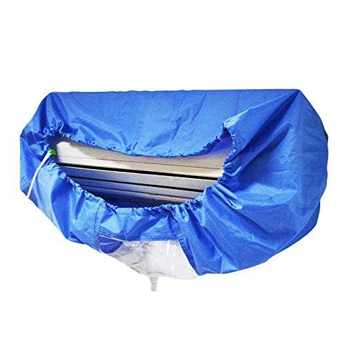 KKmoon Coperchio di Pulizia del Condizionatore d'Aria, Coperchio di Lavaggio,Antipolvere,Impermeabile per Condizionatori da Parete Strumento Pulito con Cinghia di Serraggio,Blue (M)