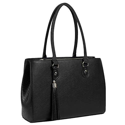 DESIGNER 13 INCH LAPTOP TOTE HANDBAG - DESIGNED BY A WOMAN - the Jennifer bfb laptop tote bag is a professional, stylish and fashionable laptop shoulder bag – with 3 zippered compartments she can be used as a Purse, Handbag, Tote Bag, Shoulder Bag, B...