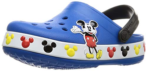 Crocs baby girls Crocs Fun Lab Disney | Mickey Mouse and Minnie Mouse Toddler Shoes Clog, Bright Cobalt, 4 Toddler US
