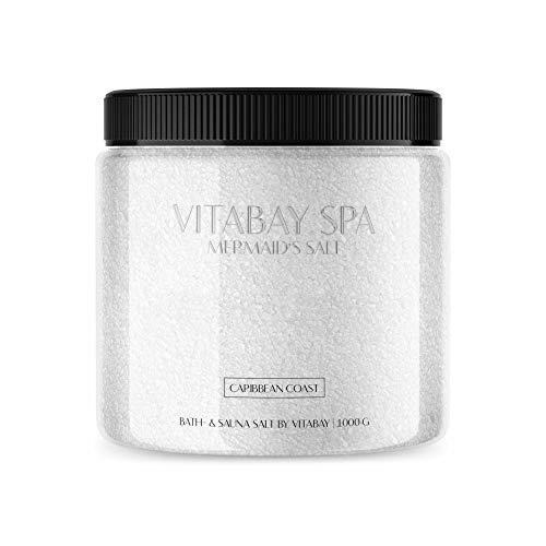 Vitabay Sauna- und Badesalz Caribbean Coast 1000 g • Sanftes Körperpeeling • Whirlpool geeignet