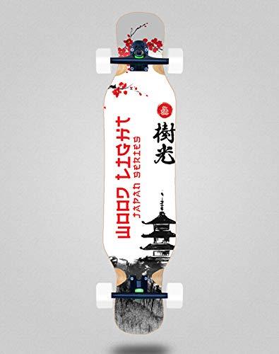 Wood light Skateboard Longboard Complete 46 x 10 Japan Series Palace