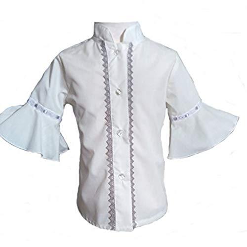 Camisa para Niñas 100% Algodón  Tallas Entre 3 y 10 Años   Blusas con Mangas de Niña para Verano   Hecha en España con la Máxima Calidad