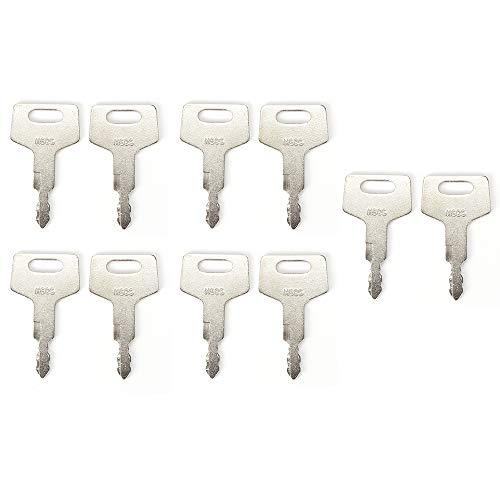 SMTHOME 10 Zündschlüssel H806 Schlüssel für Takeuchi Bagger und Gleislader, Bauausrüstung