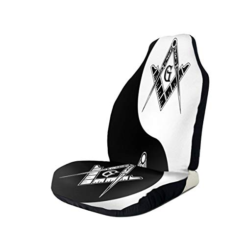 Find Discount Freemason Yin Yang Car Seat Covers for Vehicles Universal 3D Printing Car Seat Covers ...