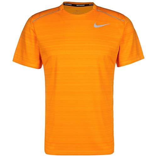 Nike Miler T-Shirt à Manches Courtes Homme, Volt/Volt, FR (Taille Fabricant : 2XL)