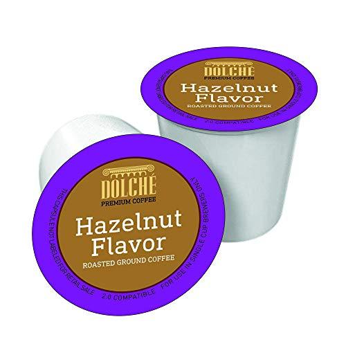 Dolche Premium Coffee, Cápsulas de Café Americano con Sabor Hazelnut, K-cup Compatible con Keurig 2.0, Caja de 96 Cápsulas
