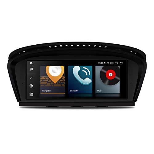 KAUTO 8.8'Android 10 Car Stereo Glare Screen Navegación GPS con Sistema iDrive retenido Soporta Car Auto Play WiFi DVR OBD TPMS para BMW 3 Serie 5 Serie E90 E60 CIC