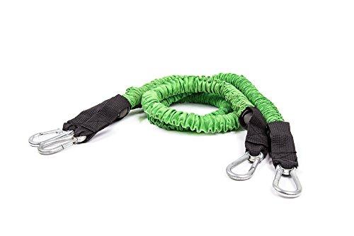 BodyBoss Bandas de resistencia - Bandas de resistencia personalizadas para entrenamientos de cuerpo total (verde)