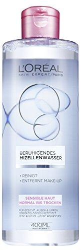 L'Oréal Paris Skin Expert Beruhigendes Mizellenwasser für sensible Haut, 3er Pack (3 x 400 ml)