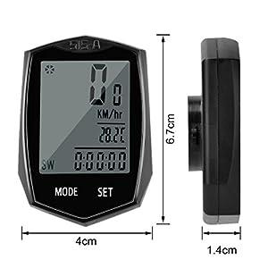 Cuentakilómetros Bicicleta Cyfie Velocímetro inalámbrico para Bicicleta Ciclocomputador Bicicleta Impermeable con Pantalla LCD con retroiluminación