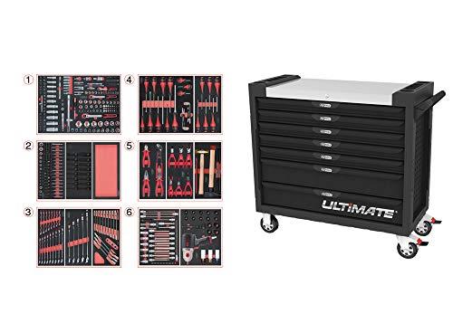 KS Tools 825.7427 825.7427-Servante Ultimate XL 7 tiroirs équipée de 428 Outils
