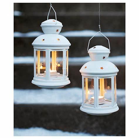 IKEA Rotera Linterna para candelita (blanco, 1)