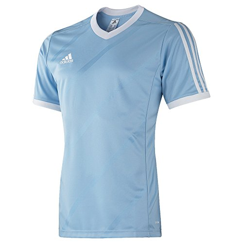 adidas Tabe 14 JSY - Camiseta para hombre, color azul claro / blanco, talla 116