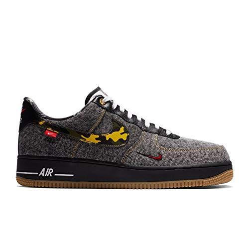 Nike Men's Shoes Air Force 1 Low Remix Black DB1964-001 (Numeric_8)