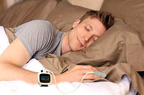 Best Deals! Bluetooth Wrist Watch Pulse Oximeter Overnight Home Sleep Tracker Tester SPO2 Oxygen Sat...