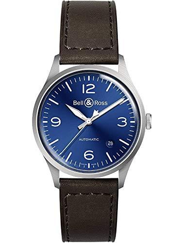 Bell & Ross Vintage quadrante blu acciaio orologio da uomo BRV192-BLU-ST/SCA