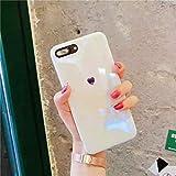 鏡面 ハート iPhone7 iPhone8 iPhoneSE(第2世代) ケース カバー ガラスフィルム付き かわいい 韓国 おしゃれ 海外 アイフォン アイホン スマホケース あいふぉん あいほん アイホーン アイフォーン (iPhone7/8)