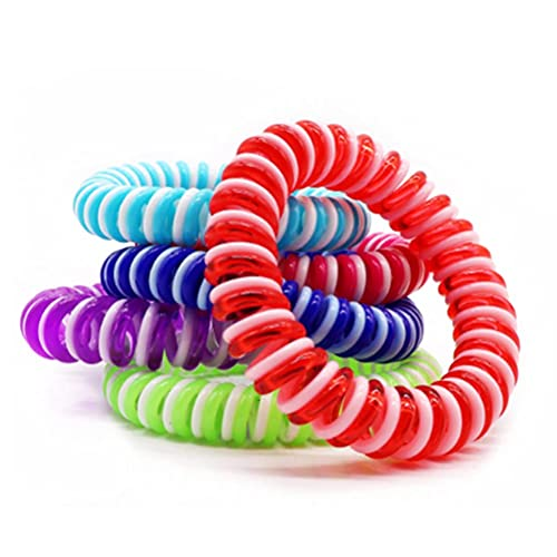 GRBD 10pcs Mosquito Repelling Bracelets Nontoxic Waterproof Mosquito Bands Great for Adults Kids Beach Park Camping Hiking Fishing