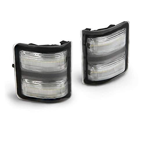 NERR YULUBAIHUO Smoke Dinámico LED LED Marco LED Marcador LUZ Ajuste para 08-16 Ford F250-F550 Super DESPORTE LÁMPARAS DE SEÑAL DE GURANDO Amber Correo Light White (Emitting Color : Clear Lens)