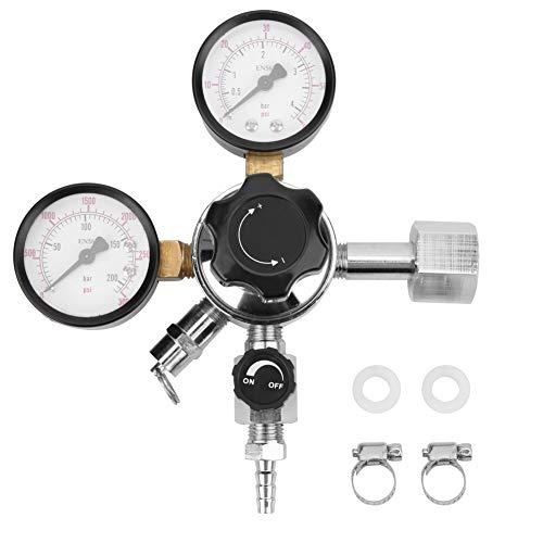 CO2-Regler, Fassregler, Dual-Kegerator-Manometer CO2-Regler mit Sicherheitshandbuch Druckentlastungsventil für gebrautes Bier