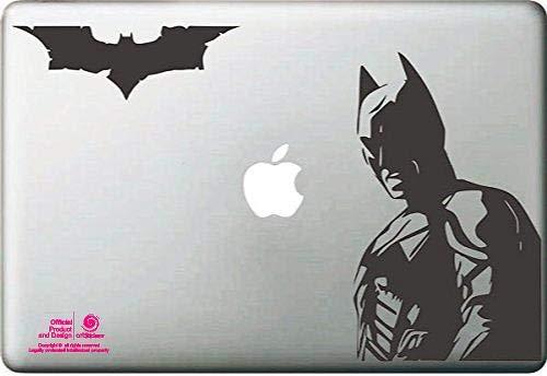 Artstickers. Pegatina para portatil de 15' y 17' Pulgadas. Diseño Batman con Murcielago. Adhesivo para Apple MacBook Pro Air Mac Portátil. Color Negro. Regalo Spilart, Marca Registrada