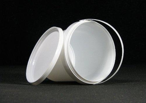 15 Stück Kunststoffeimer (PP) mit Henkel weiß und Deckel 1 Liter lebensmittelrechtlich zugelassen NEUWARE Deckel mit Originalitätsverschluß Powerpreis24