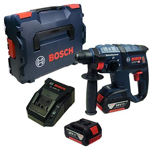 Bosch GBH 18 V-EC Akku-Bohrhammer mit 2 x Akku und Ladegerät in L-Boxx