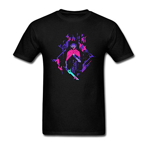 VEBLEN Men's Hyper Light Drifter Design Cotton T Shirt
