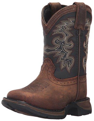 ARIAT unisex child Heritage Western Boot, Distressed Brown, 5 Big Kid US