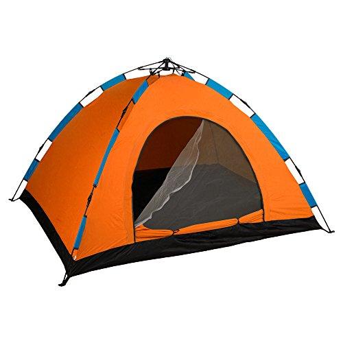 AKTIVE Zelt Kuppelzelt 200x 150cm–3Personen, selbst zusammenbaubar und Orange (85077)