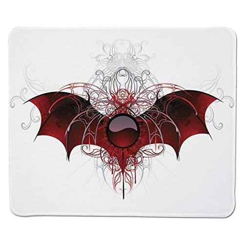 Yanteng Gaming Mouse Pad Vampiro, Figura Redonda con alas de dragón Pantalla...