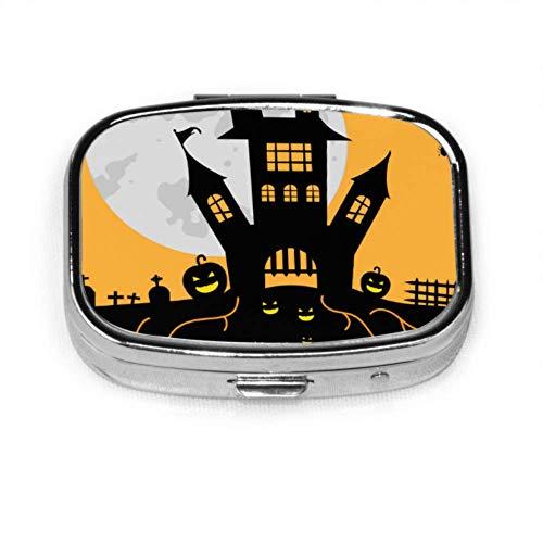 Pill Organizer Case, Suggestive Hallowen Party Flyer Für Unterhaltung Tragbare Pillendose Kleine Pillendose Für Geldbörse Oder Tasche, Quadratische Pillendose (2 Fächer)