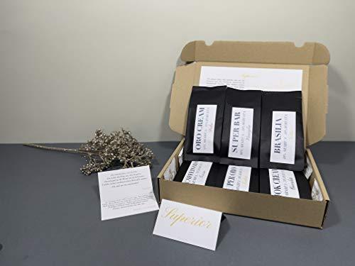 NEU Kaffee Geschenkset - Ganze Kaffeebohnen Probierset - Kaffee Geschenk 6x 50g Original Italienische Kaffee Sorten- Säurearme langsam in Italien geröstetes Kaffee Probierset in Deutschland Verpackt