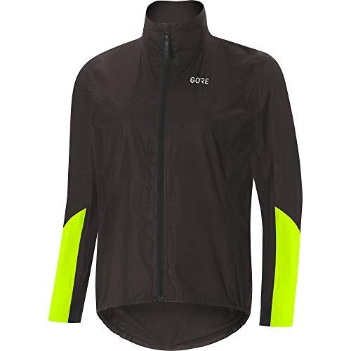 GORE Wear C7 Ladies Racing Bike Jacket GORE-TEX SHAKEDRY, S, Black/Neon Yellow