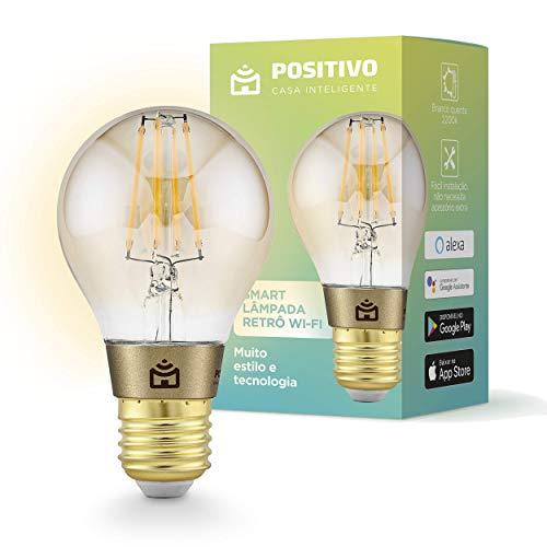 Smart Lâmpada Retrô Wi-Fi Positivo Tecnologia Smart Lâmpada Retrô Wi-Fi