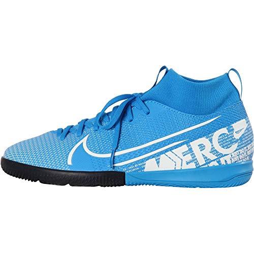 Nike Unisex-Kinder Superfly 7 Academy Ic Fußballschuhe, Mehrfarbig (Blue Hero/White/Obsidian 414), 38.5 EU