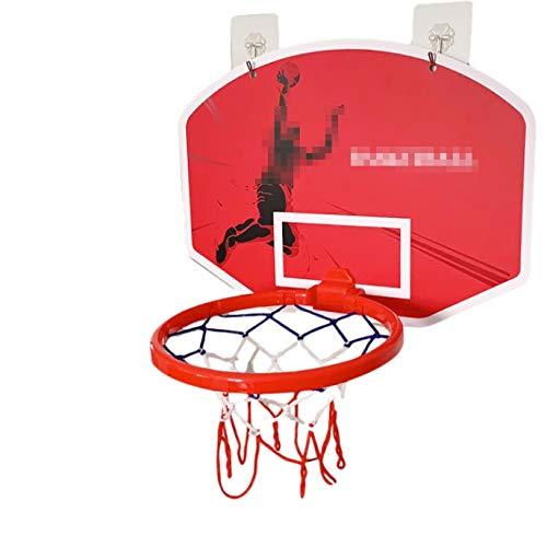 MHCYKJ Mini Canasta De Baloncesto para Casa La Puerta Aro Interior con Tablero Juego Montado En Pared Niños Basquetbol Bola Y Bomba