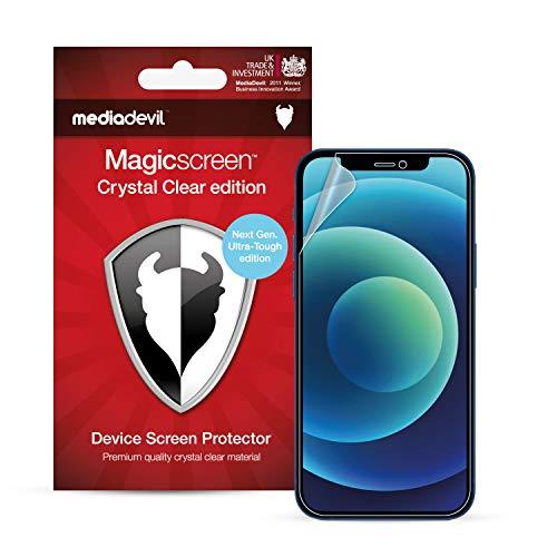 MediaDevil Pellicola Protettiva per iPhone 12 Mini (5.4') - Edizione Ultra-Tough (Libera di Vetro) (2-Pezzi)