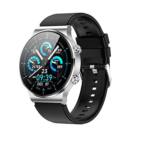 YDK Relojes Inteligentes para Hombres Y Mujeres, A Prueba De Agua, Llamada Bluetooth, Dial Personalizado, Carga Inalámbrica, Pago, Películas Inteligentes Móviles, Adecuado para Android iOS,D