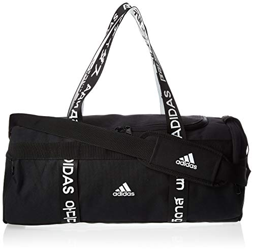 adidas 4athlts Duf S Bolsa Lona de Deporte, Unisex Adulto, Black/Black/White, NS