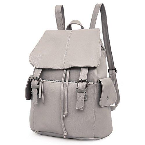 Outreo Zaino Donna Borse in Pelle da Studenti Borsa Scuola Università Zaini Vintage Backpack per Ragazza Multifunzione Borsa Cuoio PU Borsello Firmate Griffate Laptop Bag